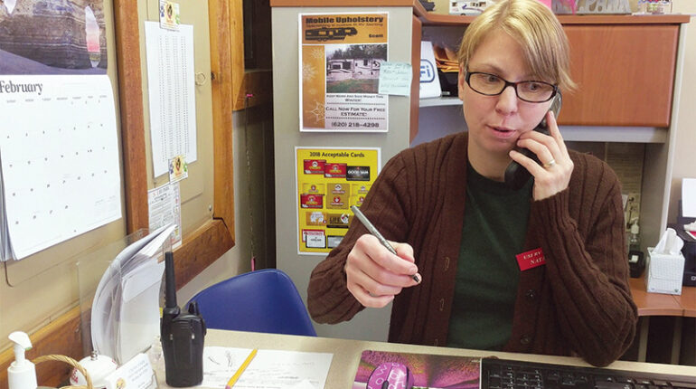 Workamper taking reservations at campground office